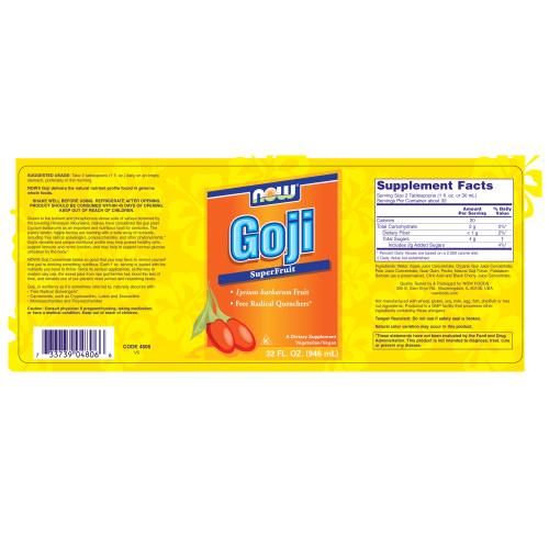 NOW FOODS -Goji - 32 oz.