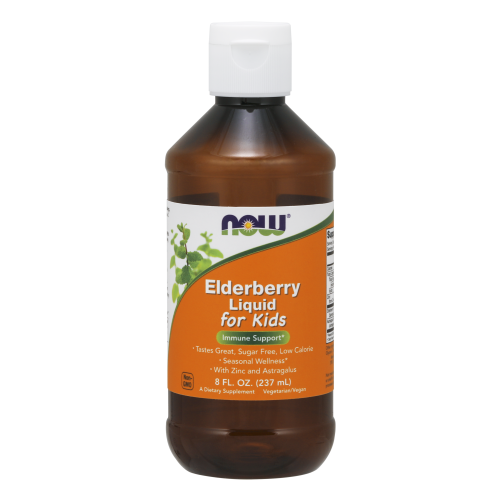 NOW FOODS -Liquid Elderberry For Kids, 8-Ounce