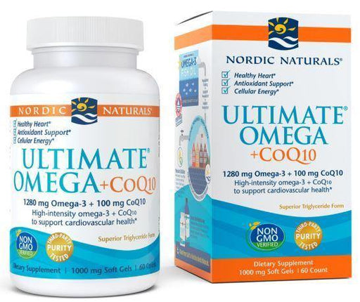 Nordic Naturals - Ultimate Omega +CoQ10 – Unflavored 60 ct - Highland Health Foods