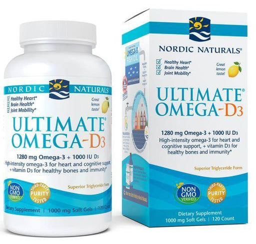 Nordic Naturals - Ultimate Omega-D3 – lemon 60 ct
