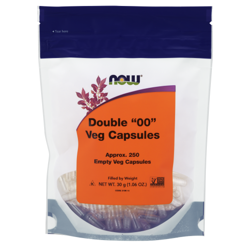 "NOW FOODS -Empty Capsules, Vegetarian, Double ""00"" - 250 Veg Capsules"