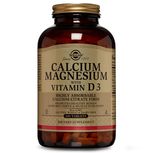 Solgar- Calcium Magnesium with Vitamin D3 Tablets- 300