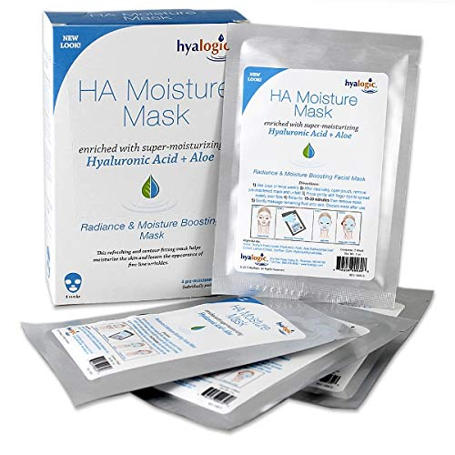 Hyalogic - Hyaluronic Acid Moisturizing Face Mask Sheet (Pack of 4 Sheets)