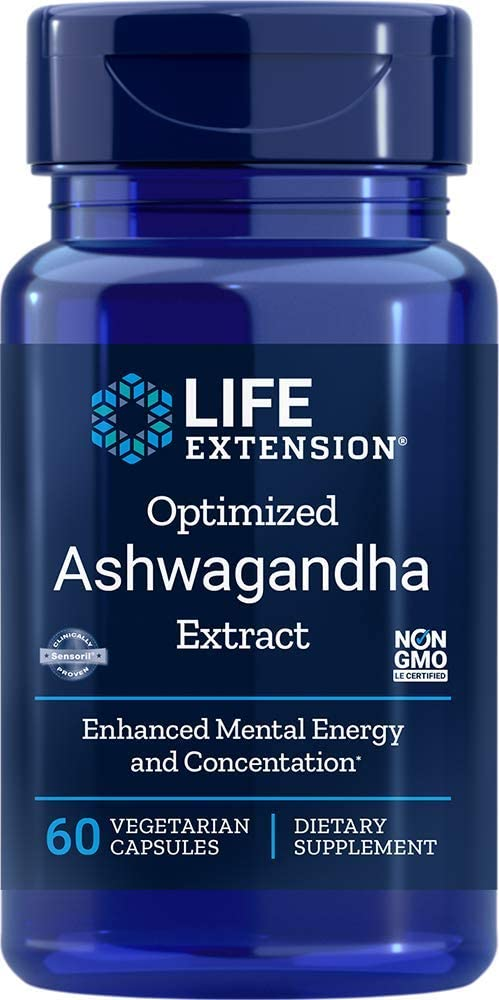 Life Extension - OPTIMIZED ASHWAGANDA EXTRACT 60 Vcaps
