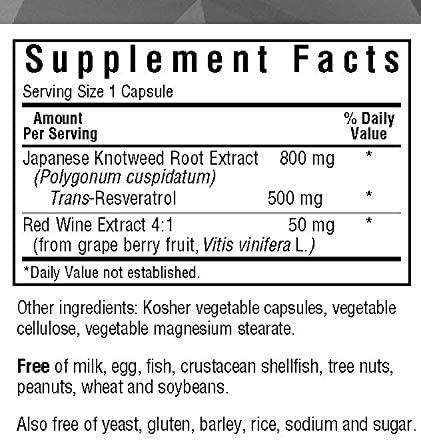 Blue Bonnet - BEAUTIFUL ALLY™ RESVERATROL 500 mg 60VC - Highland Health Foods