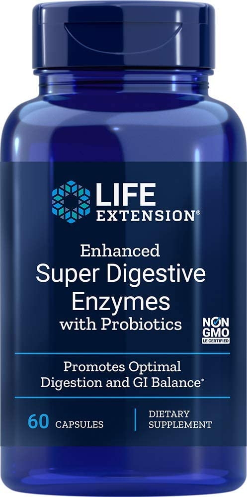 Life Extension - ENHANCED SUPER DIGESTIVE ENZYMES W/PROBIOTICS 60 CAPSULES