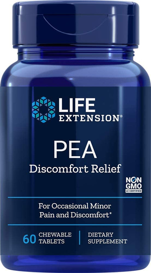 Life Extension - PEA DISCOMFORT RELIEF 60 CHEWABLE TABLETS
