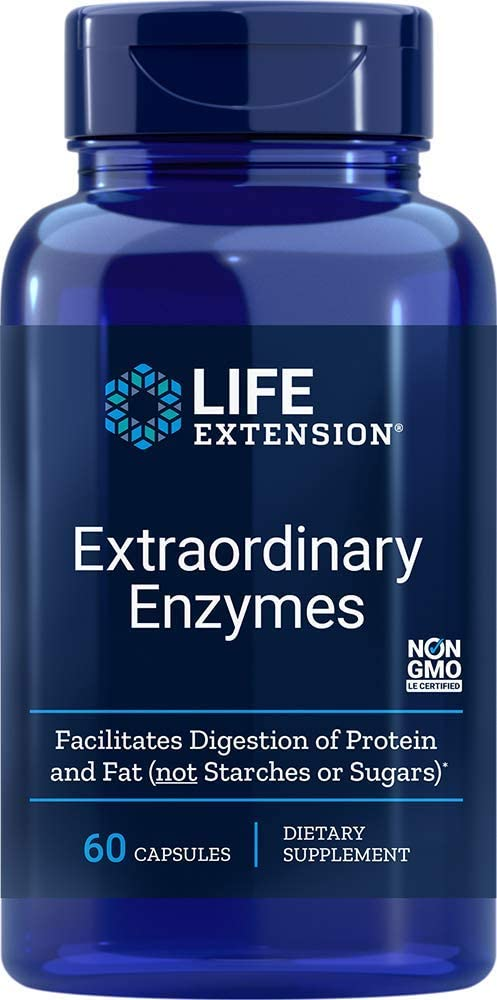 Life Extension - EXTRAORDINARY ENZYMES 60 CAPSULES