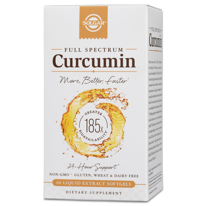 Solgar- Full Spectrum Curcumin Liquid Extract Softgels- 60