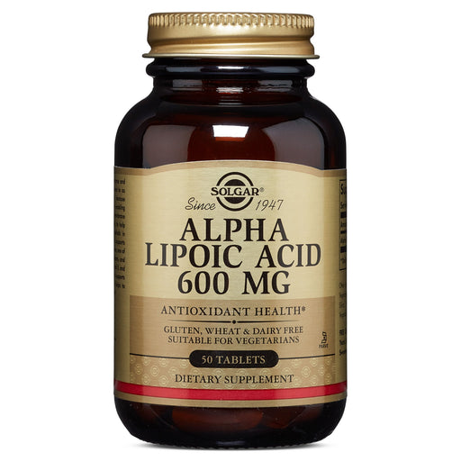 solgar alpha lipoic acid 600 mg tablets 50