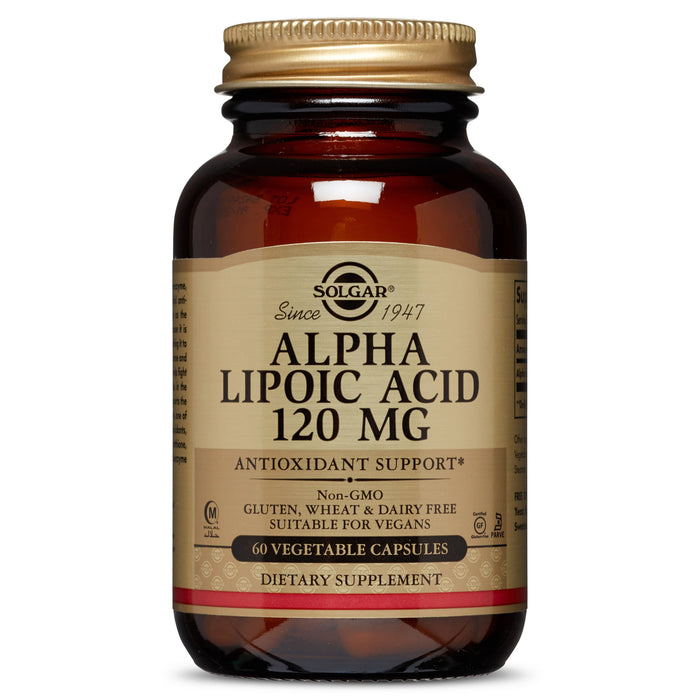 Solgar- Alpha Lipoic Acid 120 mg Vegetable Capsules- 60