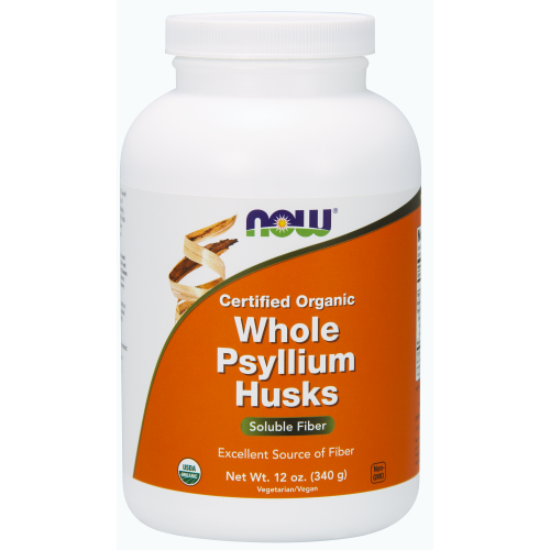 NOW FOODS -Whole Psyllium Husks, Organic - 12 oz.