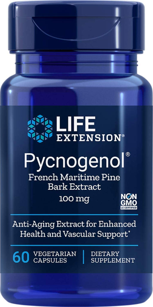 Life Extension - PYCNOGENOL FRENCH MARITIME PINE BARK EXTRACT 100 MG 60 Vcaps
