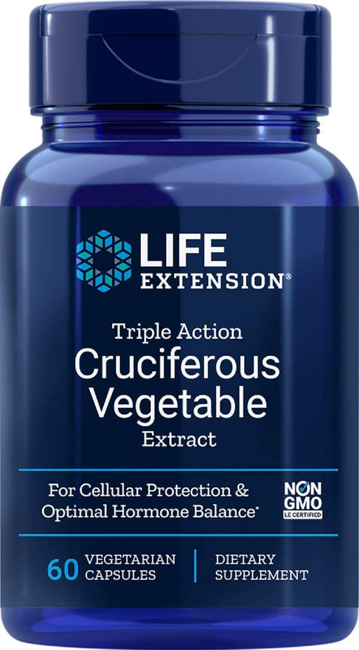 Life Extension - TRIPLE ACTION CRUCIFEROUS VEGETABLE EXTRACT  60 VEGGIE CAPSULES