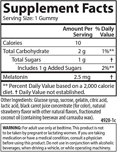Carlson-Melatonin Gummies, 60 Gummies