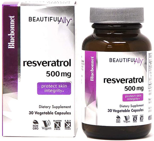 Blue Bonnet - BEAUTIFUL ALLY™ RESVERATROL 500 mg 30VC
