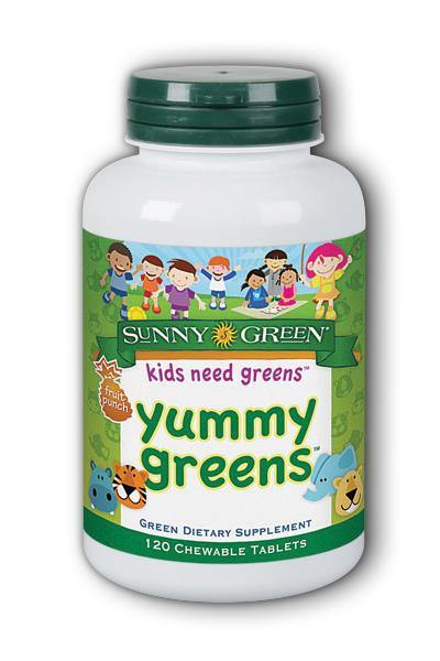 Sunny Green  -Yummy Greens 120ct - Highland Health Foods