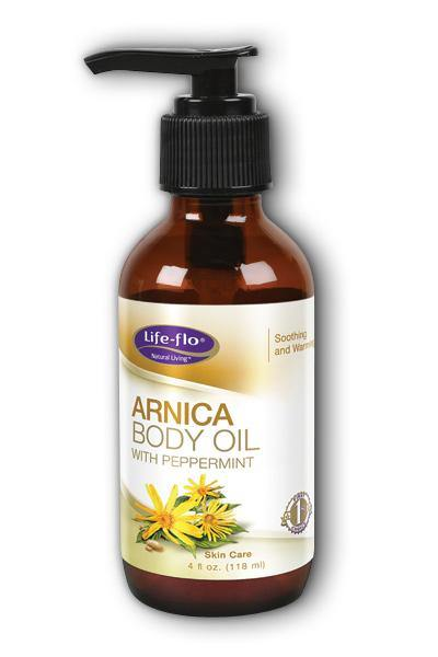 LifeFlo  -Arnica Body Oil w/Peppermint 4oz - Highland Health Foods