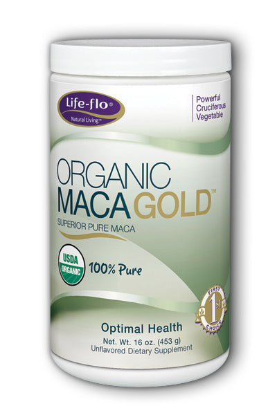LifeFlo- Maca Gold Organic, Powder, Unfl, 16 oz