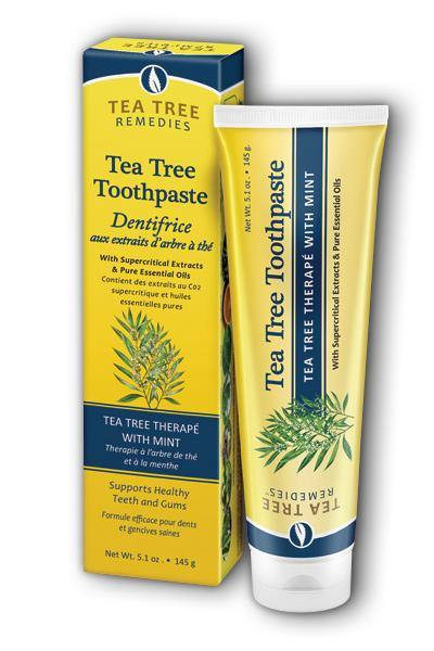 Organix South  -Tea Tree Toothpaste 5.1oz - Highland Health Foods