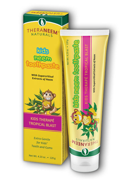 Organix South  -Kids Neem Toothpaste, Tropical Blast 4.23oz