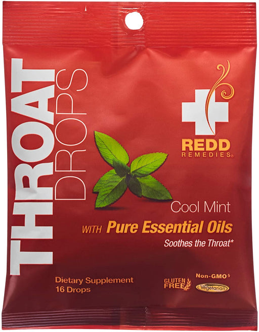 Redd Remedies - Cool Mint Throat Drops 16 pack