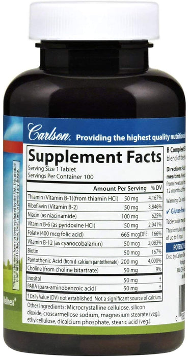 Carlson-B-Compleet™ 50, 100 Tablets