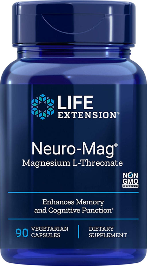 Life Extension - NEURO-MAG™ MAGNESIUM THREONATE      90 VEGETARIAN CAPS