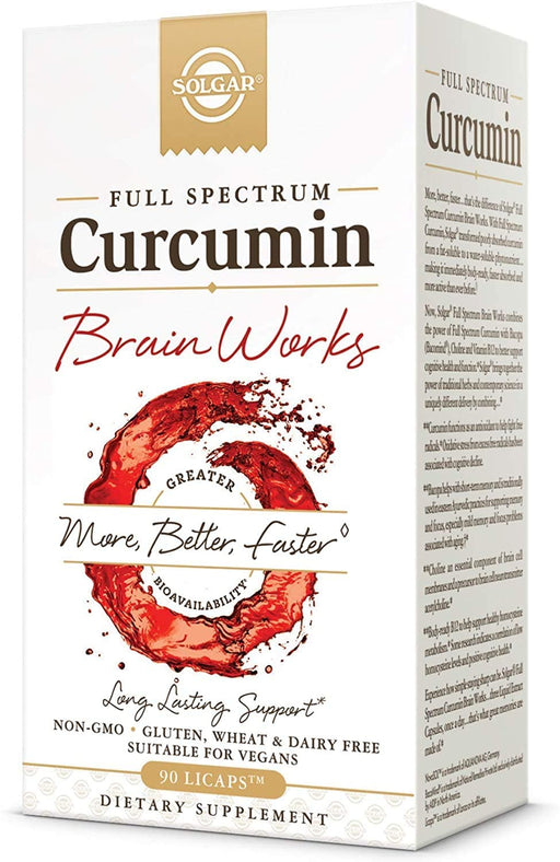solgar full spectrum curcumin brain works 90 licaps