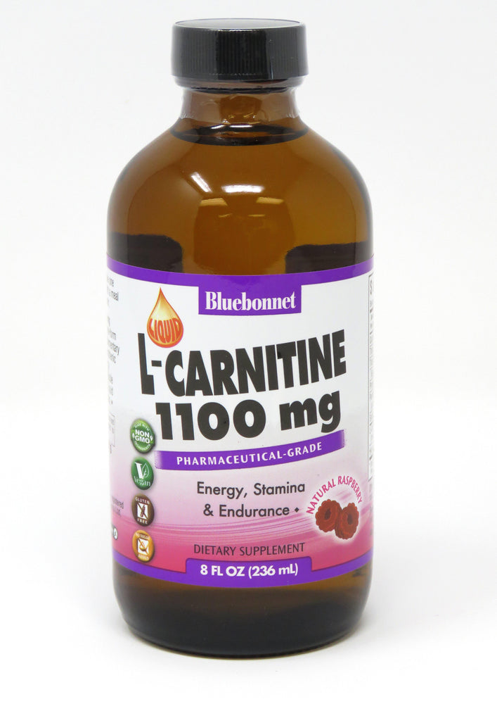 Blue Bonnet- LIQUID L-CARNITINE 1100 mg RASP8 oz