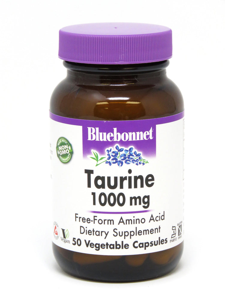 Blue Bonnet- TAURINE 1000 mg50 - Highland Health Foods