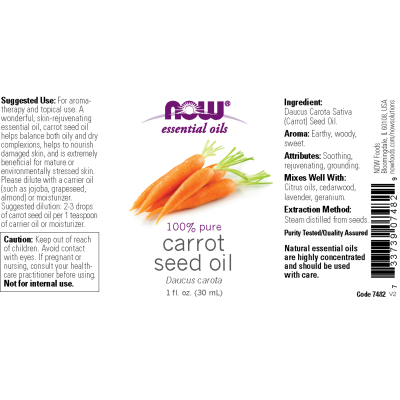 NOW FOODS - CARROT SEED OIL  1 OZ