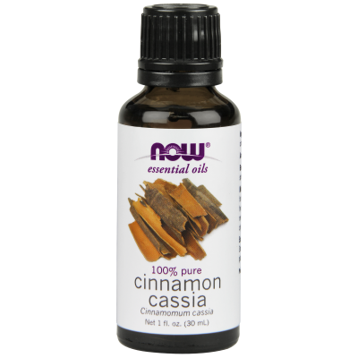 NOW FOODS - CINNAMON CASSIA OIL  1 OZ