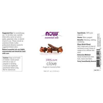 NOW FOODS - CLOVE OIL  4 OZ