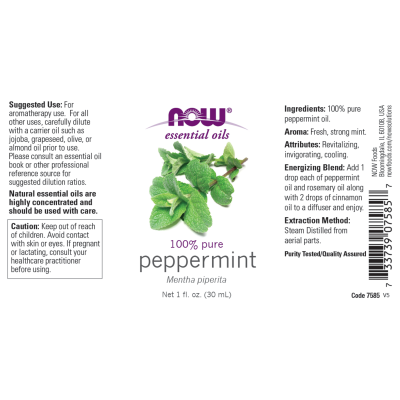 NOW FOODS - PEPPERMINT OIL  1 OZ