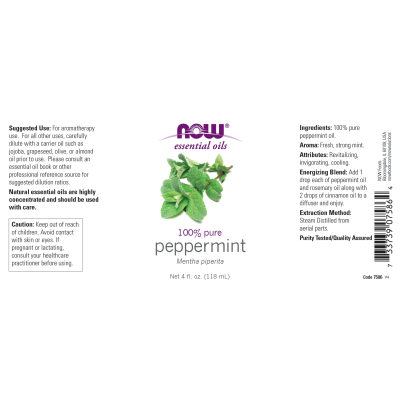 NOW FOODS - PEPPERMINT OIL  4 OZ