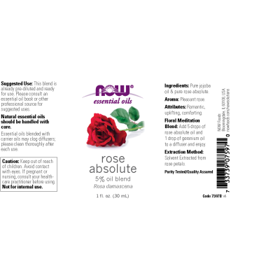 NOW FOODS - ROSE ABSOLUTE 5% BLEND 1 OZ