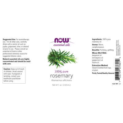 NOW FOODS - ROSEMARY OIL  4 OZ