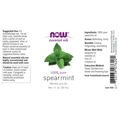 NOW FOODS - SPEARMINT OIL  1 OZ