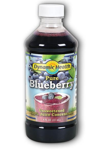Dynamic Health -Blueberry Concentrate Glass 8oz - Highland Health Foods