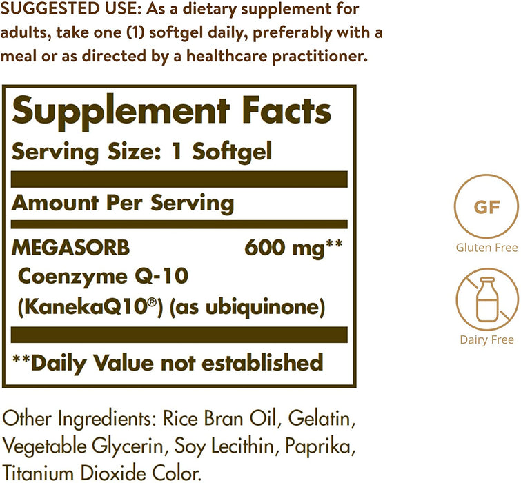 Solgar- Megasorb CoQ-10 600 mg Softgels- 30