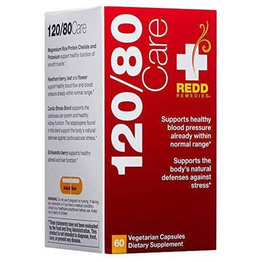 Redd Remedies - 120/80 Care, Natural Support Blood Pressure, 60 count