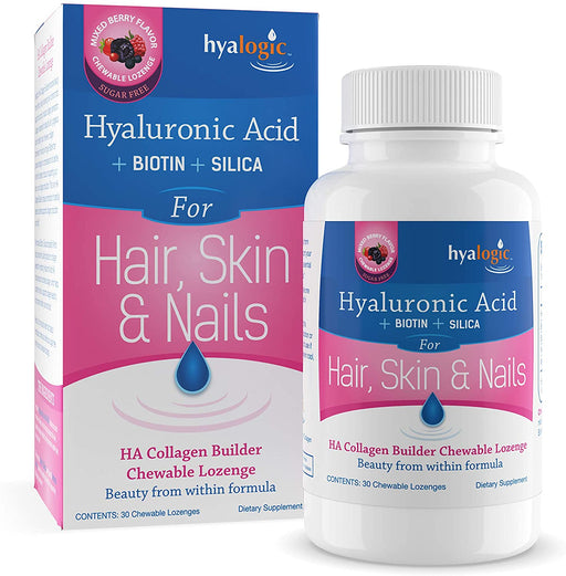 Hyalogic - Hyaluronic Acid for Hair Skin and Nails Mixed Berry Flavor 10 mg. - 30 Lozenges