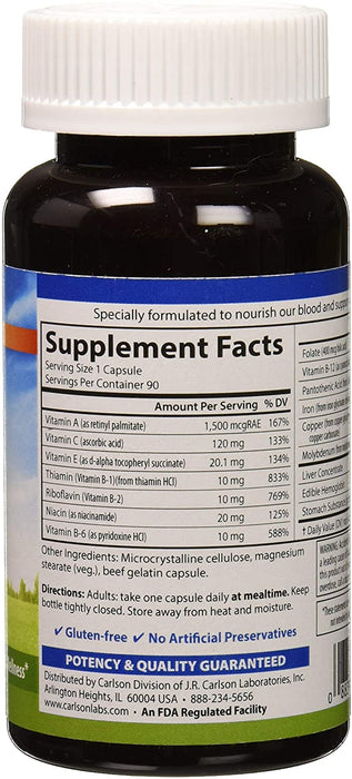 Carlson-Blood Nutrients®, 90 Capsules