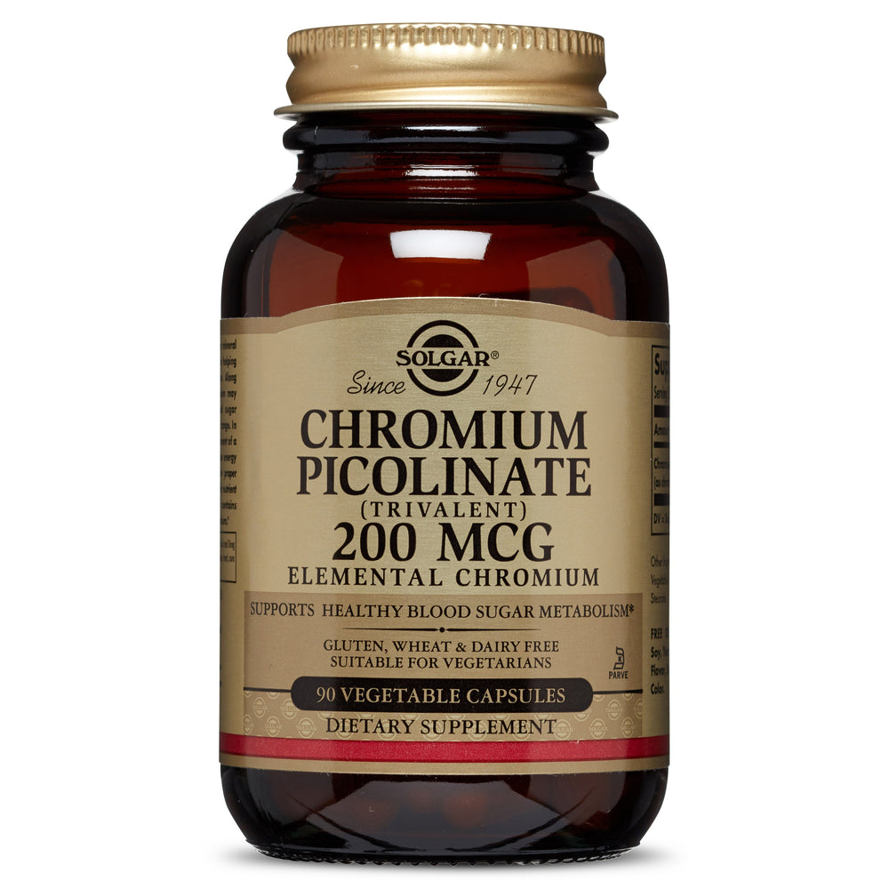solgar chromium picolinate 200 mcg vegetable capsules 90