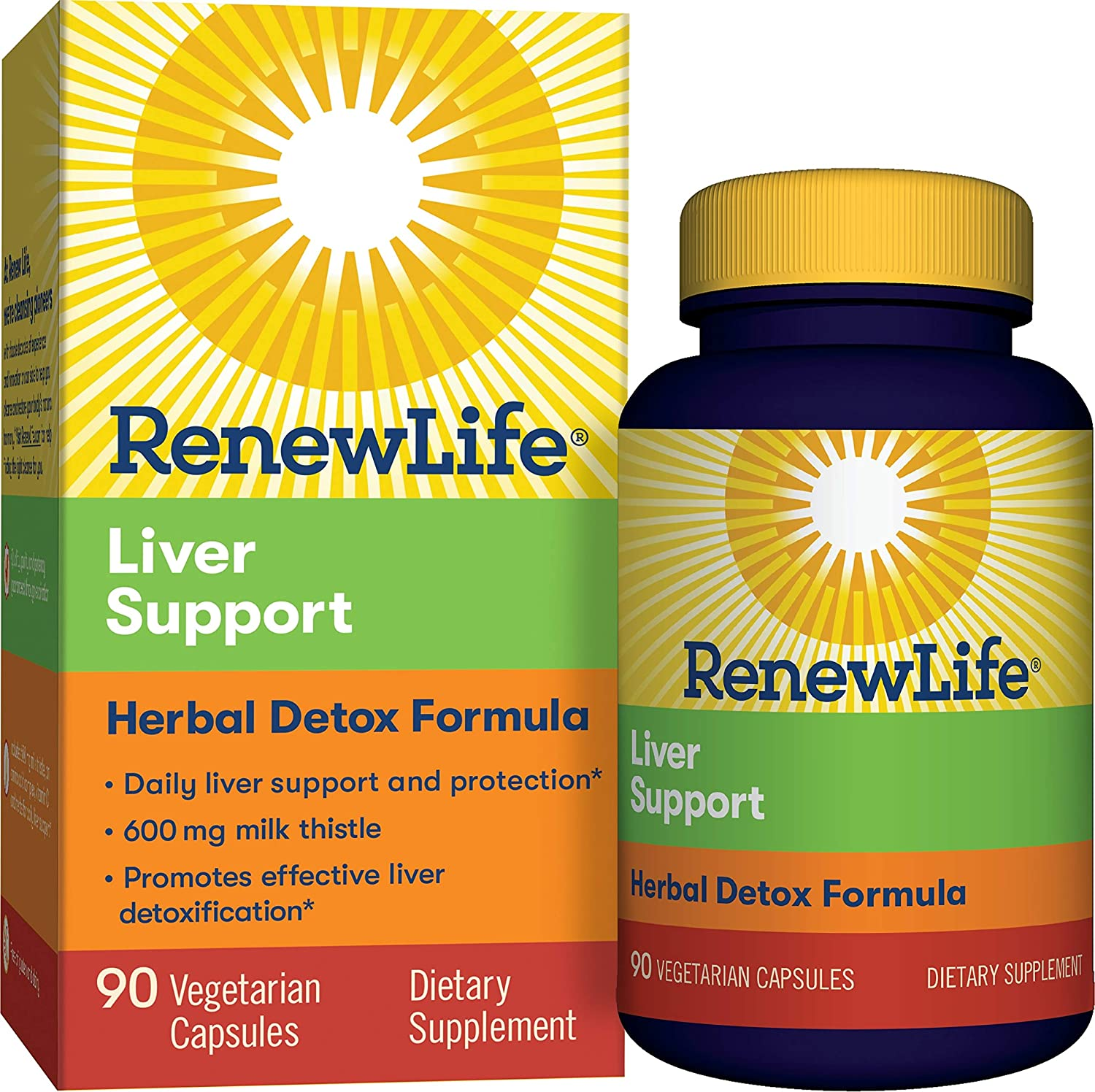 Renew Life - Extra Care Liver Support 600mg Milk Thistle 90ct