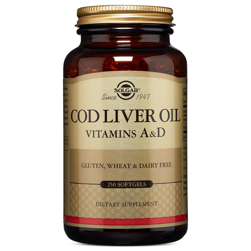 Solgar- Cod Liver Oil Softgels (Vitamin A & D Supplement)- 250