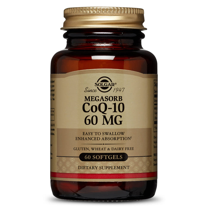 Solgar- Megasorb CoQ-10 60 mg Softgels- 60