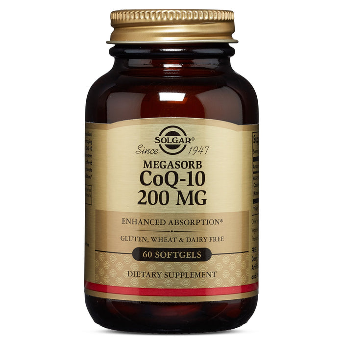 solgar megasorb coq 10 200 mg softgels 60