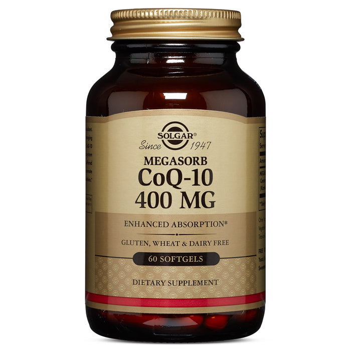 Solgar- Megasorb CoQ-10 400 mg Softgels- 60